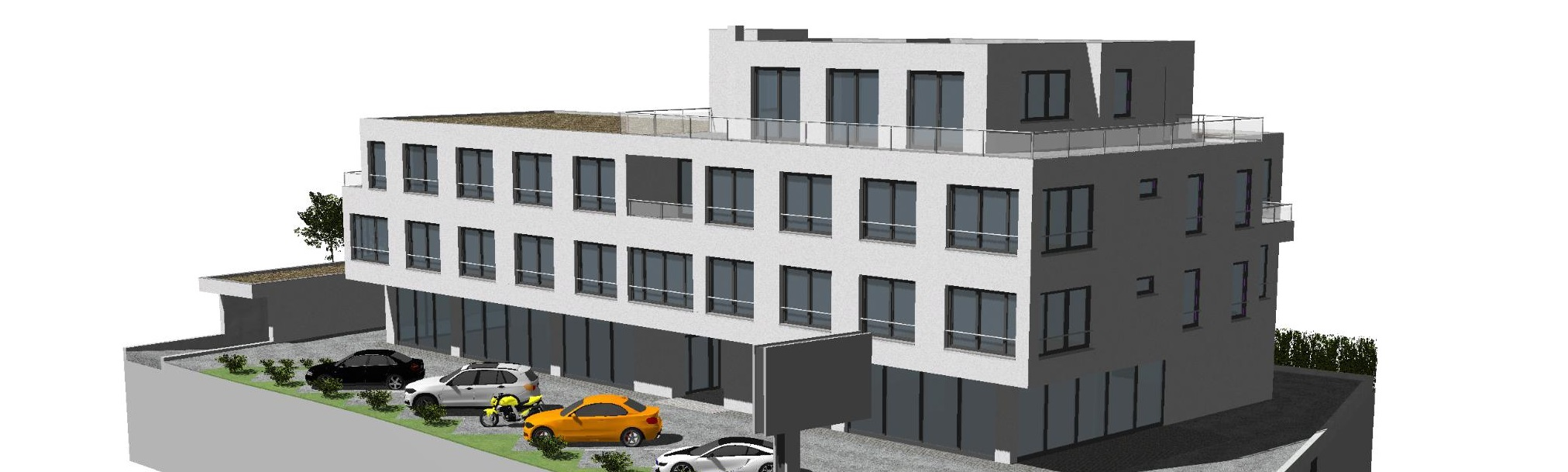 Neubau: Bürofläche mit Penthousecharakter